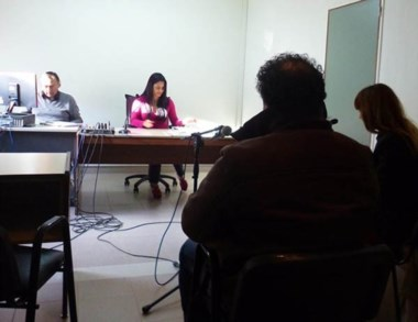 Julio Flores declarando. La jueza Olavarría lo dejó libre.