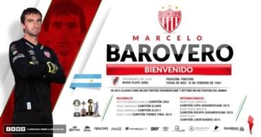 Marcelo Barovero se suma al plantel de los Rayos.
