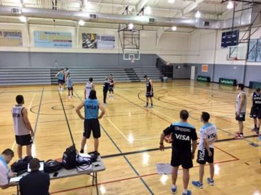 La Selección Argentina se prepara en Las Vegas de cara a los amistosos en EEUU. (Foto: CABB).
