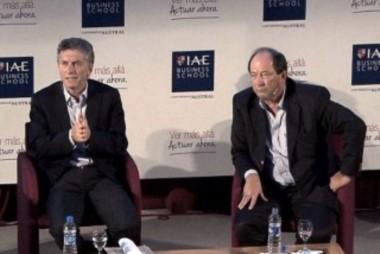 Ahora Sanz sigue en su sillita, pero Mauricio Macri quedóse con el sillón de Rivadavia...