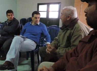 Alonso se reunió con productores de la localidad de Telsen