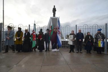 Los representantes de la comunidad mapuche tehuelche se sumaron al festejo