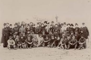 Imagen de algunos de los primeros colonos galeses llegados a Chubut
