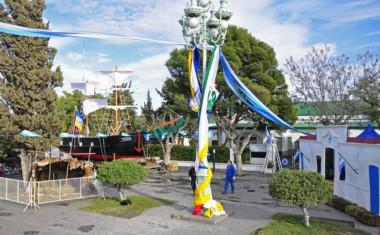 La peatonal Fontana luce ornamentada con motivo de la celebración