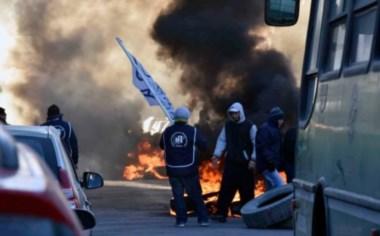 La tensión se trasladó dentro de las oficinas municipales, donde ocurrieron los incidentes