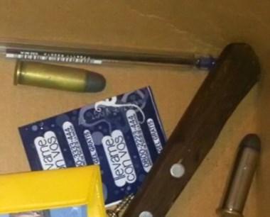 La Policía encontró proyectiles que serán materia de pericias.