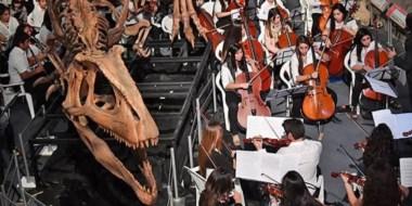 Experiencia. Los restos fósiles fueron testigos de la presentación de una Orquesta muy particular.
