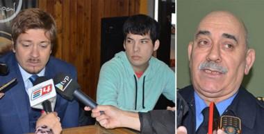 Molestos. Desde la izquierda, Lagos, Peláez y Ale pidieron que desde Tribunales haya más conciencia.