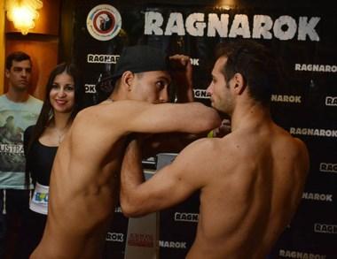 """El """"Rayo"""" Perrone y Franco Risco, protagonistas de la pelea de fondo."""