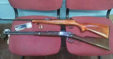 Con estas armas y varios cuchillos habían sido sorprendidos el pasado sábado. Ya están libres y en Trelew.