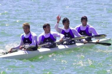 Los varones del remo en K4-1000 no pudieron entrar en la competencia por las medallas.
