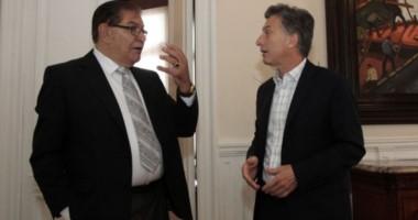 Pereyra y el presidente de la Nación durante un encuentro en Olivos, meses atrás.