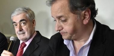 Juntos en Comodoro. El gobernador Das Neves, con Carlos Linares, en la última visita del mandatario provincial a la ciudad del petróleo.