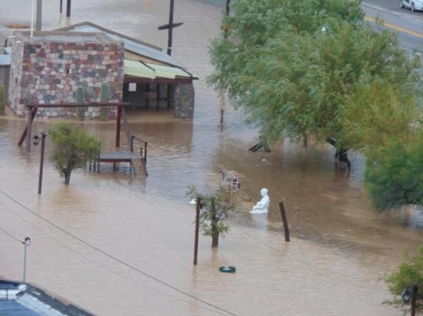 Tumbaya bajó el agua (foto El Tribuno de Jujuy)