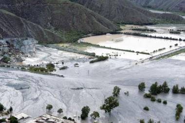 Los valles jujeños inundados por el temporal (foto ASO/Dakar)