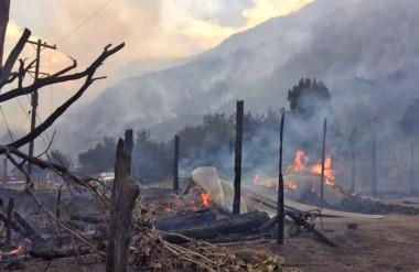 Fuego intencional. El  informe asegura que en Chubut se registraron 52 focos en superficies implantadas