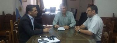 El presidente de Corfo aprovechó la recorrida por la Comarca Andina para reunirse con Ongarato.