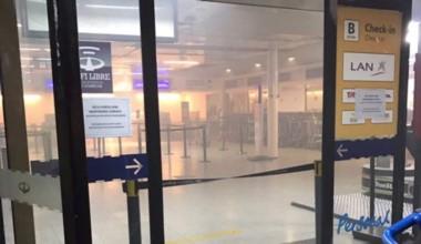 Pánico y evacuados por incendio en hall de Aeroparque.