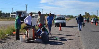 El titular de Planeamiento estuvo supervisando los trabajos realizados sobre la avenida de Trelew.