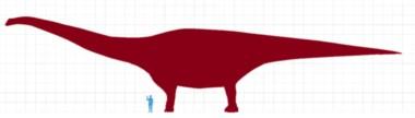 Una imagen compara la relación entre el Titanosaurio y el hombre