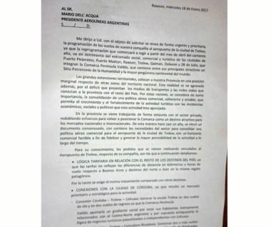 El documento de Das Neves con duros cuestionamientos a Aerolíneas.