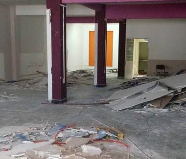 Desolador. Así lucen las oficinas que desocupó la gestión Artero.