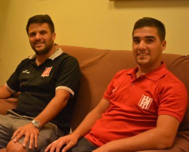Mauro y Jonathan Barone, los encargados del fútbol formativo de Racing Club de Trelew.