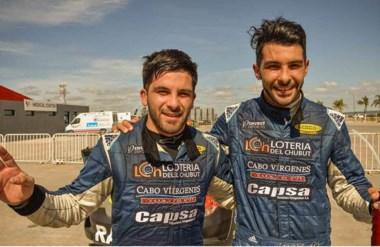 Los hermanos Valle, de Rawson, competirán durante esta temporada en el Top Race V6. Un sueño para ellos.