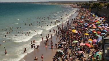 El litoral concentró gran cantidad de visitantes por los carnavales (foto El Día)