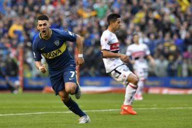 Boca ganó su quinto partido al hilo por la Superliga, gon tanto de Pavón, de gran partido ante Chacarita.