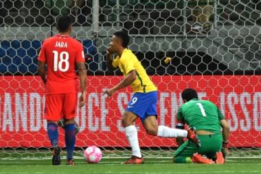 Paulinho marcó el primer tanto del combinado que dirige Tité.