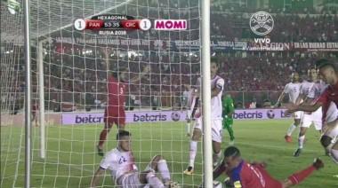 La polémica de la eliminatoria. Panamá clasificó con un gol fantasma. Nunca cruzó la línea.