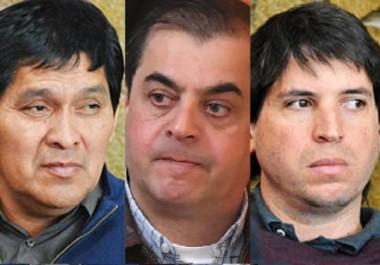 Culpables. Desde la izquierda, Segundo, Burgos, Aranda Barberá y Seoane, que para los jueces actuaron juntos para intentar exportar cocaína.
