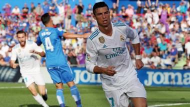Primer gol, tres puntos. Cristiano se estrena en la Liga para darle la victoria al Real Madrid en Getafe.