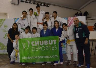 La delegación de chubutenses que participó de la instancia nacional en La Feliz.