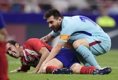 En un partidazo, Atlético Madrid y Barcelona igualaron 1-1.