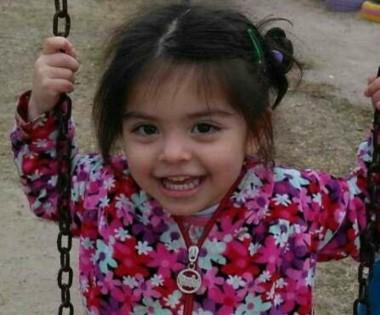 Delfina, la nena desaparecida, tiene dos años y nueve meses. (foto Río Negro)