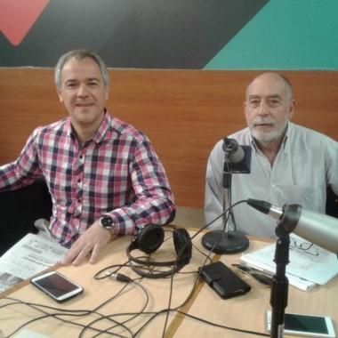 Gómez Lozano y Alfredo Montes ayer en los estudios de FM Tiempo 91.5.