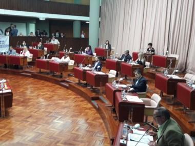 Los legisladores finalmente dieron quorum (foto @prensalegisch)