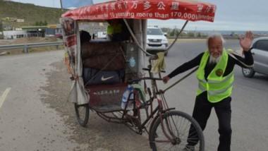 Tras recorrer Argentina y Chile, Chen Guan Ming tenia previsto dirigirse a Machu Picchu, Perú, donde concluiría su periplo habiendo pedaleado unos 200.000 kilómetros.