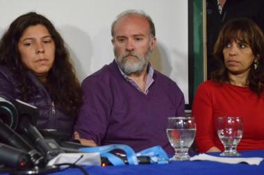 Trío. Desde la izquierda, Andrea Antico, Sergio Maldonado y la abogada Verónica Heredia, en la conferencia.
