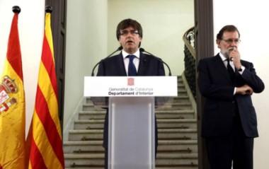 Foto de archivo de los dos líderes, cuando las pretensiones de Cataluña no habían llegado a este extremo.