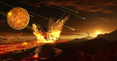 Hace entre 3.700 y 4.500 millones de años, el planeta era bombardeado por meteoritos a un ritmo de ocho a once veces superior a la actividad actual.