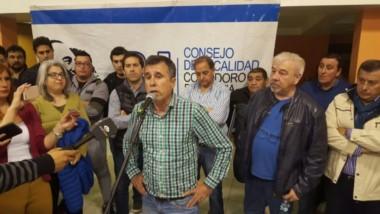 Fueyo habló a la militancia en Comodoro (foto @ElComodorense)