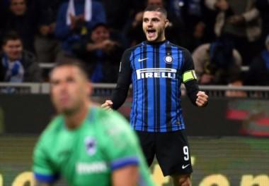 Mauro Icardi lleva 11 goles en 10 fechas de la Serie A con la camiseta del Inter.