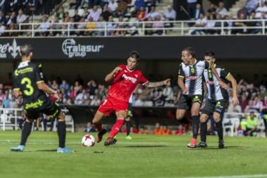 Joaquín Correa anotó para el #Sevilla en la victoria por 3-0 ante Cartagena.