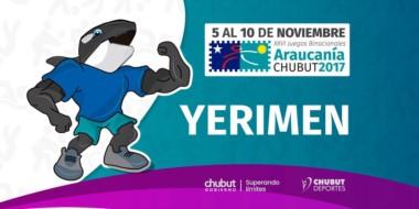 La mascota de Chubut. Es la tercera ocasión que la provincia de Chubut es sede de esta competencia.