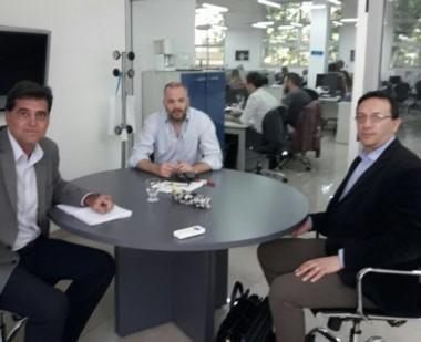 Tratativas. Agulleiro y Maderna tuvieron un diálogo fructífero con los funcionarios nacionales.