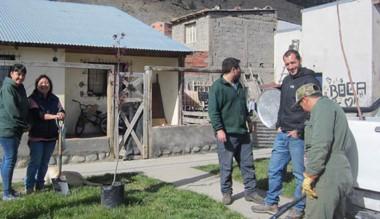 El área ambiental municipal acompañó a los vecinos en la actividad.
