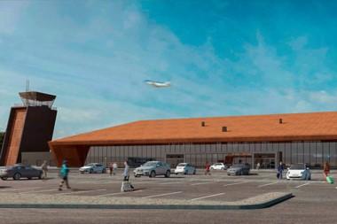 Maqueta. El modelo virtual de cómo quedaría la nueva estación aérea de la ciudad cordillerana tras la obra.
